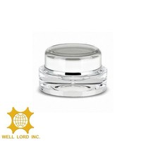 crystal clear mini acrylic cosmetics jar