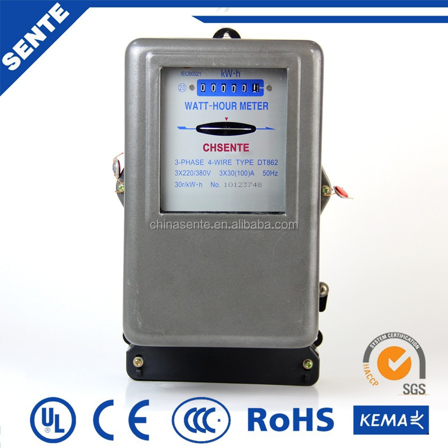 Three Phase Electricity Meter Mechanical : Dt three phase electric power meter rs mechanical