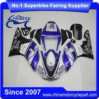 FFKYA001 Motorcycle ABS Fairing For R1 1998 1999 Blue White Yamalube