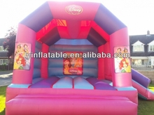 Best quality inflatable princess bouncy castle, princess jumping castle with slide factory price