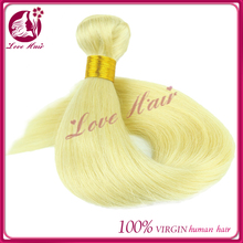 Yotchoi Platinum Blonde Hair Bundles,Quality Blonde Virgin Human Hair Weave, Color 613 Blonde Brazilian Hair Weft