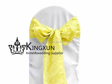 Pintuck Chair Sash Used On Chair Cover - Yellow Color