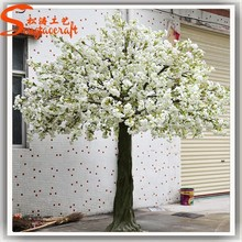 Plastic white artificial cherry blossom tree wedding decor centerpieces from factiry directly.