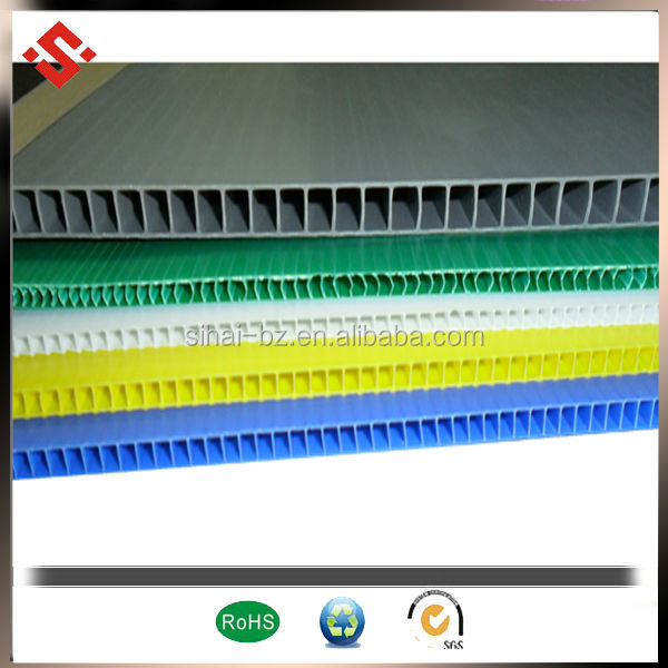 colorful pp corrugated sheet