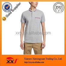 Imported from China factory fake pocket office polo t shirt design