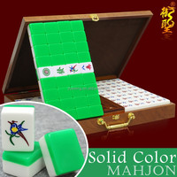 Mahjong Set Chinese Mahjong Tiles Crystal Green Custom Mahjong Set