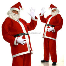 2015 Hot Sell Adult Economy Santa Suit Wholesale Christmas Decoration