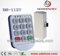 LED indicate keyless keypad swimming pool locker lock (DH-112Y)