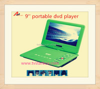 high quality fast delivery portable vcd dvd evd player9''screen 270 degreen tft screen portable evd dvd player