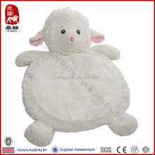 100% polyester plush baby mat sheep/lamb stuffed play mat soft toy play mat for baby plush educational toy for baby/kid