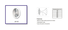 Hvac de ventilación de chorro difusor