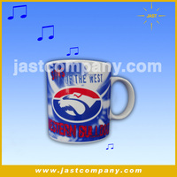 High Quality Musical Bone China Printed Logo Mug
