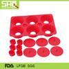 Six round silicone cake mold