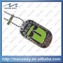 cutom zinc alloy or metal 3D shape engraved men dog tag