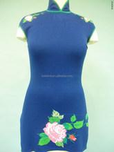 CHEONGSAM DRESS KNITTED