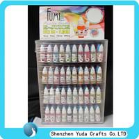 custom rectangular e-juice display case factory in china logo UV printing e-liquid display box rack 4 tiers type hot sale cheap