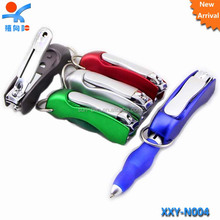 folding multi-funtional pen with nail clipper
