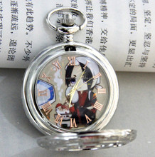 Anime waist chain Pocket Watch popular Style silver Quartz Clock Pocket Watch With Chain Factory Direct Sale!