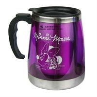 Double Wall Purple Beer Mug With Lid