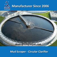 Bridge supported industrial clarifier in water settlement tank