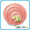 temperd glass dish set,round tempered glass serving plate