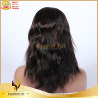 For Black Women Professional Styling 100% Human Hair Highlights Peruvian Hair Lace Front Wig