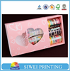 2015 new design lovely customized Macaron paper box for packing with PVC & tray