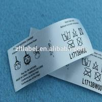 polyester care label custom made warranty void label