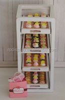 pop retail wooden tiered custom cookie display box/ cookie display stand