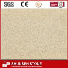 High polish surface quartz kitchen cabinets artificial stone Cinnabar Coffee QZ651