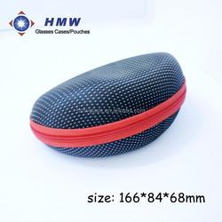 light portable zipper glasses bag dots cloth covered EVA eyeglass case