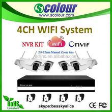 4CH outdoor ir decentralized ip camera system,onvif wifi ip camera wireless reverse camera and parking sensor