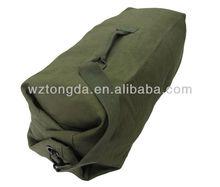 GREEN MILITARY COTTON CANVAS 70L SHOULDER DUFFLE BAG WZ7091