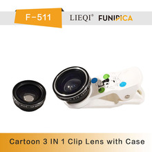 Universal Clip-on 3 in 1 Fisheye Wide Angle Macro Camera Lens for mobile phone