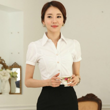 el último diseño de moda de las señoras blusas uniforme
