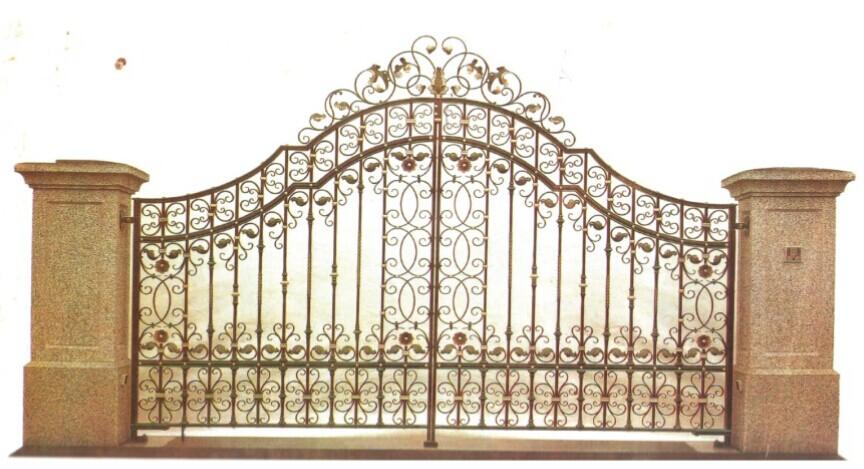 Iron gates model wrought fence desians luxury