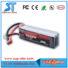 2015 Newest Lithium polymer/li-polymer battery pack 11.1v 3000mah