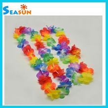 Hawaiin Hawaii Adult Luau Hula Dance Kit 4 Piece Set Flower petal Lei +Headband+Bracelets