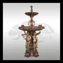 Fuente Musical querubines de bronce