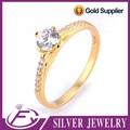 5 estrellas de feed back alta calidad anillo de oro 24k puro pulido anillo de oro