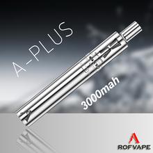 Rofvape A Plus 3000mah best huge vapor mod review clearomizer ego w e pipe mod