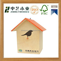 Handmade Small Wood Crafts Bird House Model Wholesale Pet Cages, Carriers & Houses
