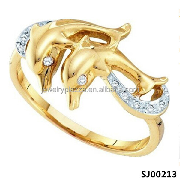 Sterling Silver Double Dolphin Ring New Design European