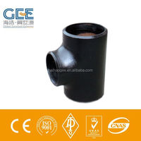 ansi b16.9 carbon steel a234 wpb reducing pipe fitting tee
