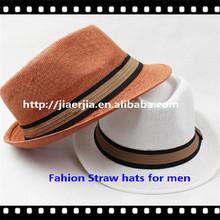 Guapo sombreros panama, sombrero de paja para los hombres