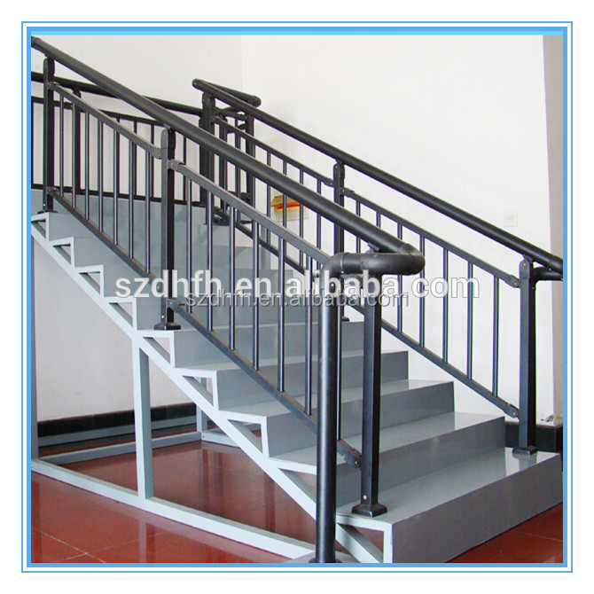 The details of steel wood stair handrail design indoor stairs handrail