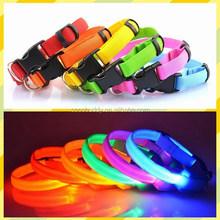 1.3cm Nylon Webbing LED Flashing Puppy Dog Collar