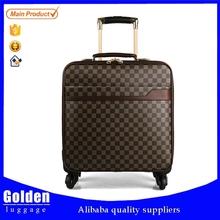 2015 laptop cabin trolley luggage pu trolley luggage best selling skyway luggage