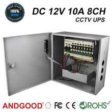 Big size Power supply distribute box dc12v 10a with 8 cameras