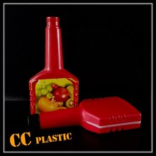 300ml 400ml 8oz 10oz red hdpe squeezing plastic bottle for tomato paste ketchup fruit sauce